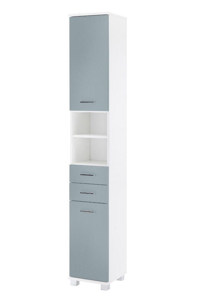 Schildmeyer Bayamo Hochschrank H30, Taubenblau/Weiß Jetzt bestellen