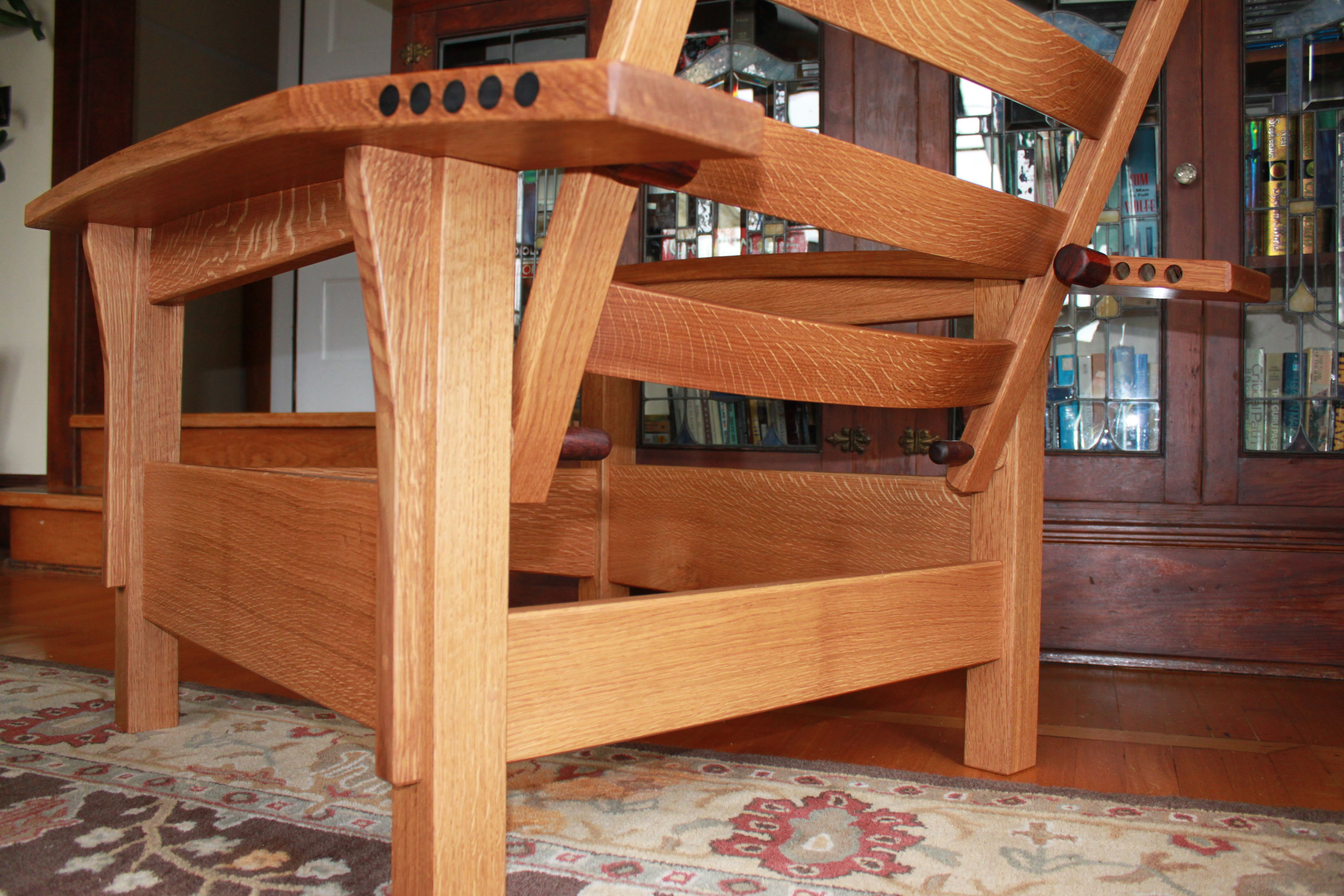 Bow arm Morris chair Mission style