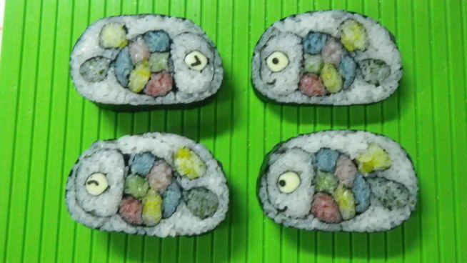 カラフルなお魚 デコふり 使ってデコ巻き寿司デザインコンテスト 応募詳細 楽習フォーラムコンテスト 寿司アート 寿司 巻き寿司