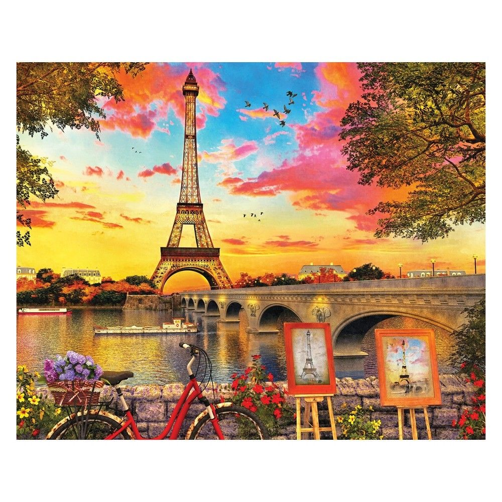 Springbok Paris Sunset 1000pc Jigsaw Puzzle Eiffel tower