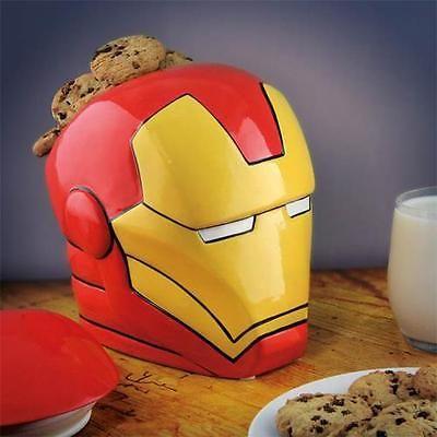699b17862 #Marvel iron man licensed #cookie jar sci fi ceramic jars #superheroes  storage,