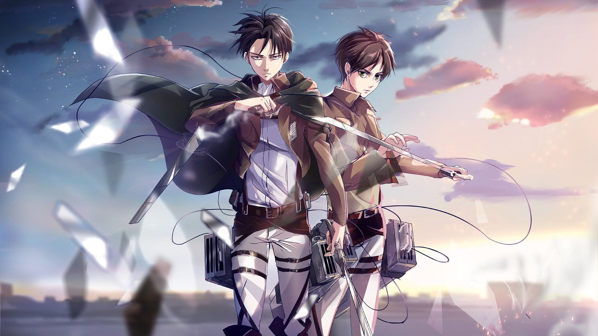 Anime Attack On Titan Eren Yeager Levi Ackerman 1080p Wallpaper Hdwallpaper Desktop Attack On Titan Art Attack On Titan Season Attack On Titan Anime