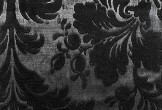 Damask Black Curtains - Rooms