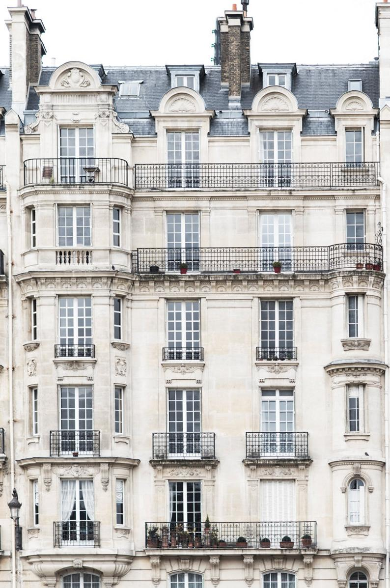 Paris Architecture Photograph  The Grand Apartments Paris | Etsy