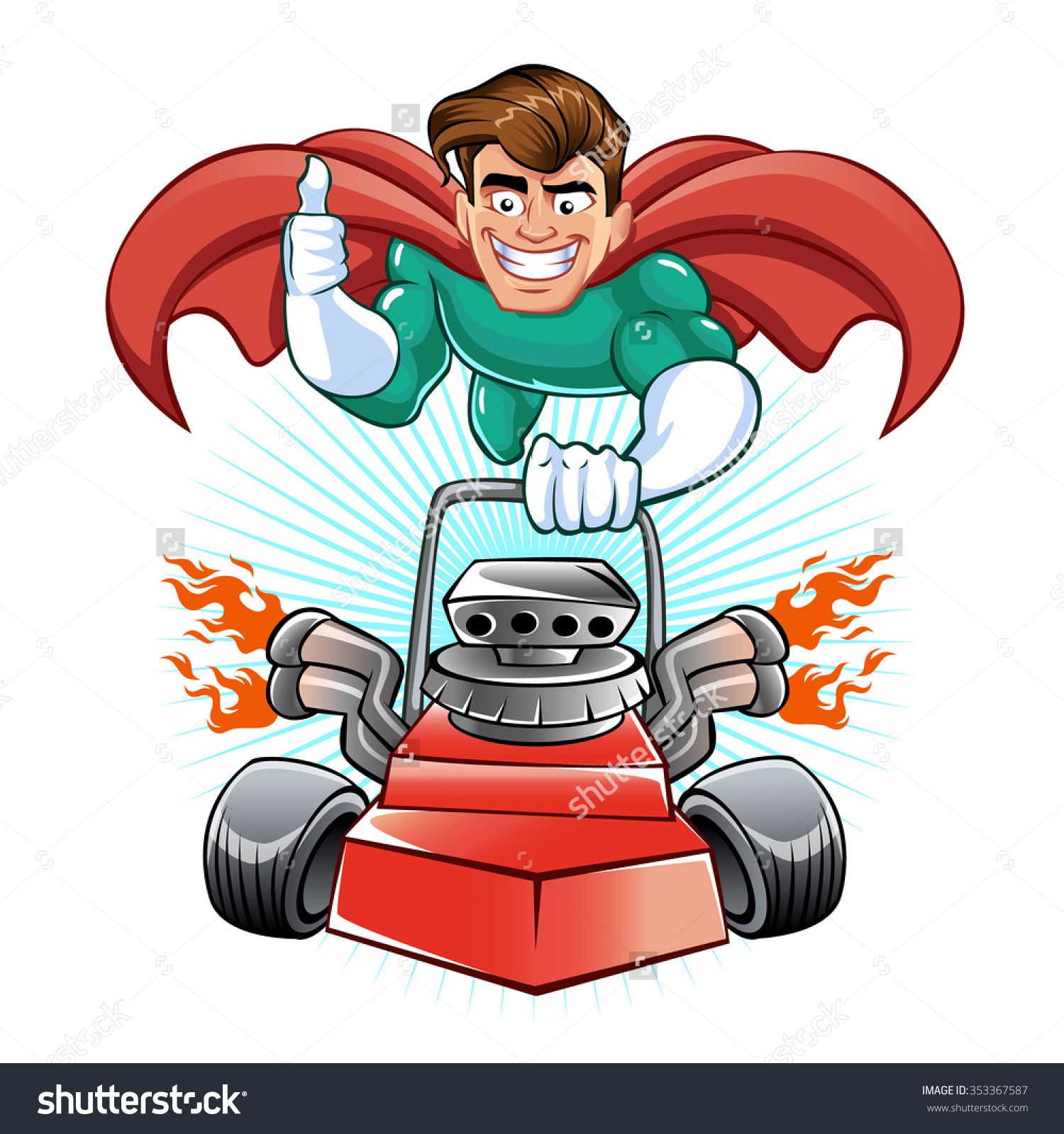 10+ Lawn Mower Animated Clipart