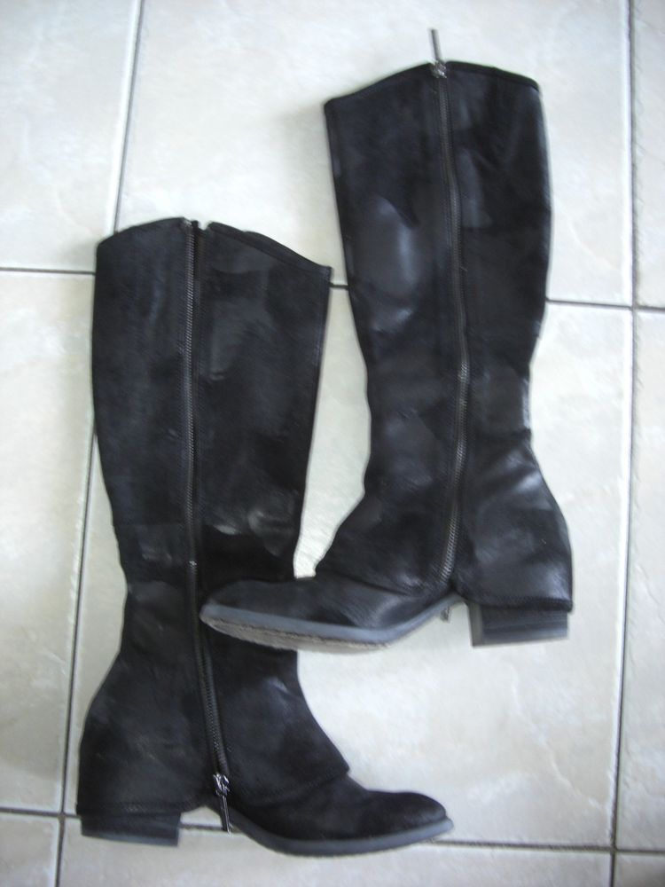 Donald Pliner Devi 2 Black Vintage Suede Knee High Boot Sz 6.5 #DonaldJPliner #KneeHighBoots