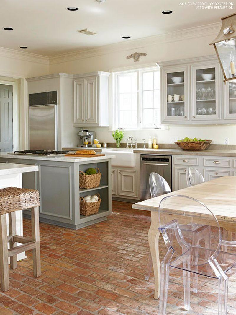 Stylish Kitchen Floor Ideas for Your Home Renovation Bhgrelife. Studio Kitchen Design Ideas. 1000 Images Kit Dinig Onartistic Tile Kitchen. 22 Beautiful Kitchen Design for Loft Apartment Design New York