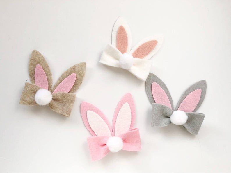 Bunny Ears Headband Bunny Tail Bow Easter Bunny Headband Easter Baby Headband Bunny Easter Headband Baby Headband Easter Hair Bows
