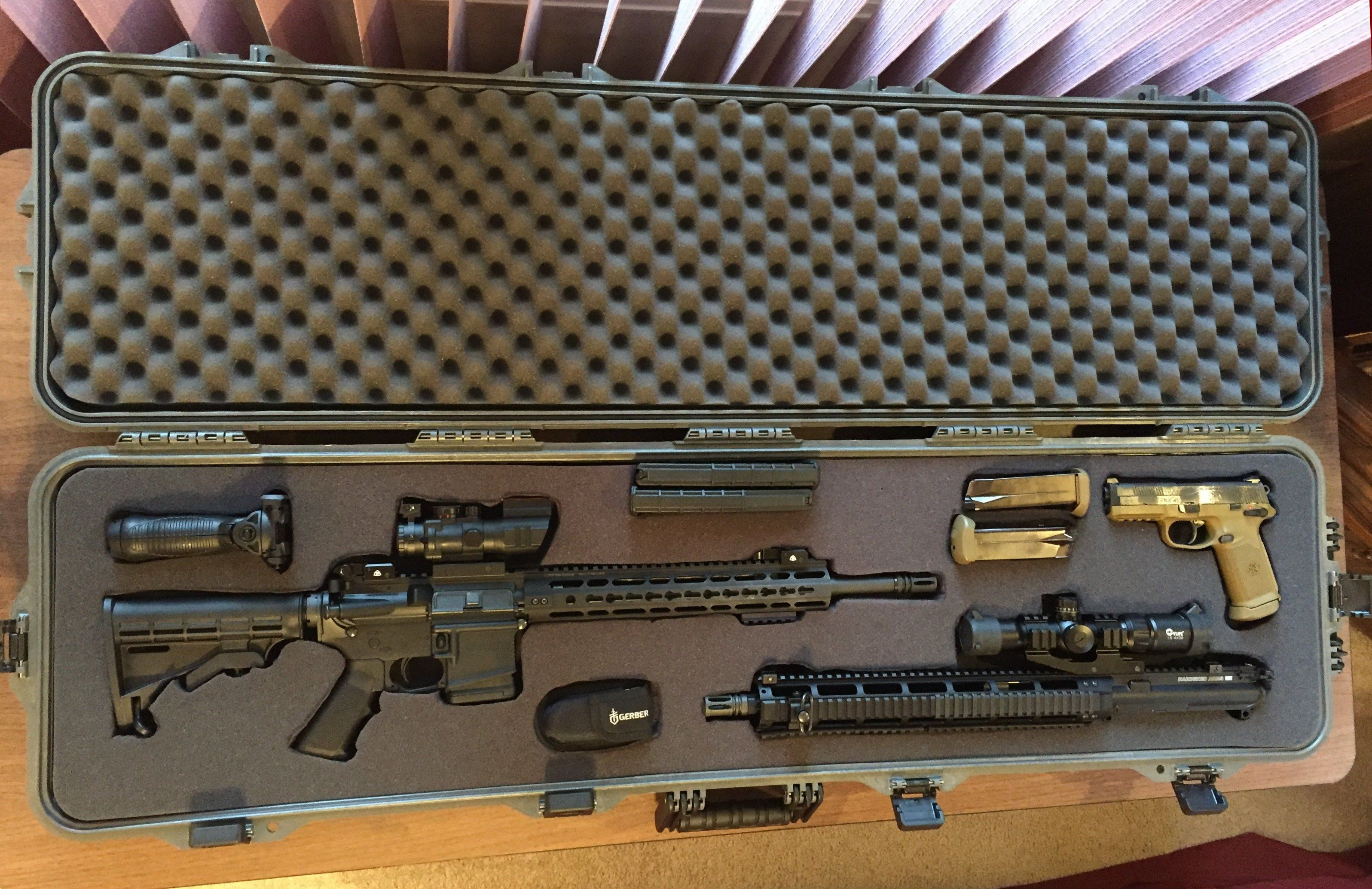AR 15, 300 Blackout Upper, FN FNX 45 and Case | BANG!! | 300