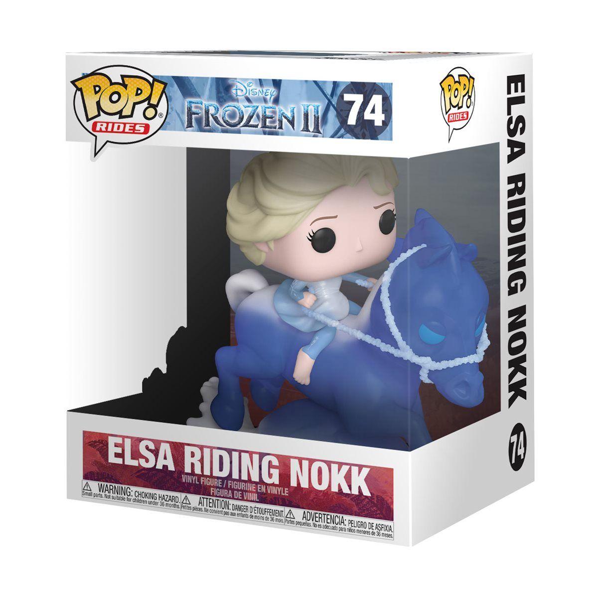 Frozen 2 Elsa Riding Nokk Pop Vinyl Ride Entertainment Earth In 2020 Funko Pop Disney Funko Pop Dolls Disney Pop
