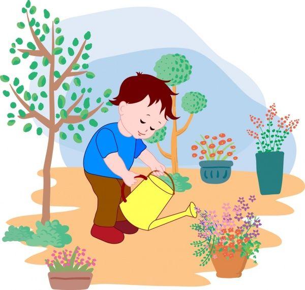 Gambar Animasi Anak Menyiram Bunga Little Boy Menyiram Bunga Latar Belakang Berwarna Kartun Dekorasi Bunga Me Vector Free Cartoon Design Colorful Backgrounds
