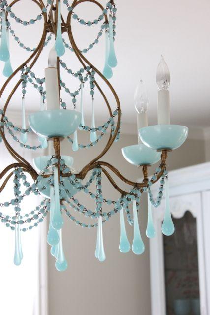 murano blue opaline chandelier so lovely turquoise chandeliervintage chandelierchandelier lightingglass - Turquoise Chandelier Light