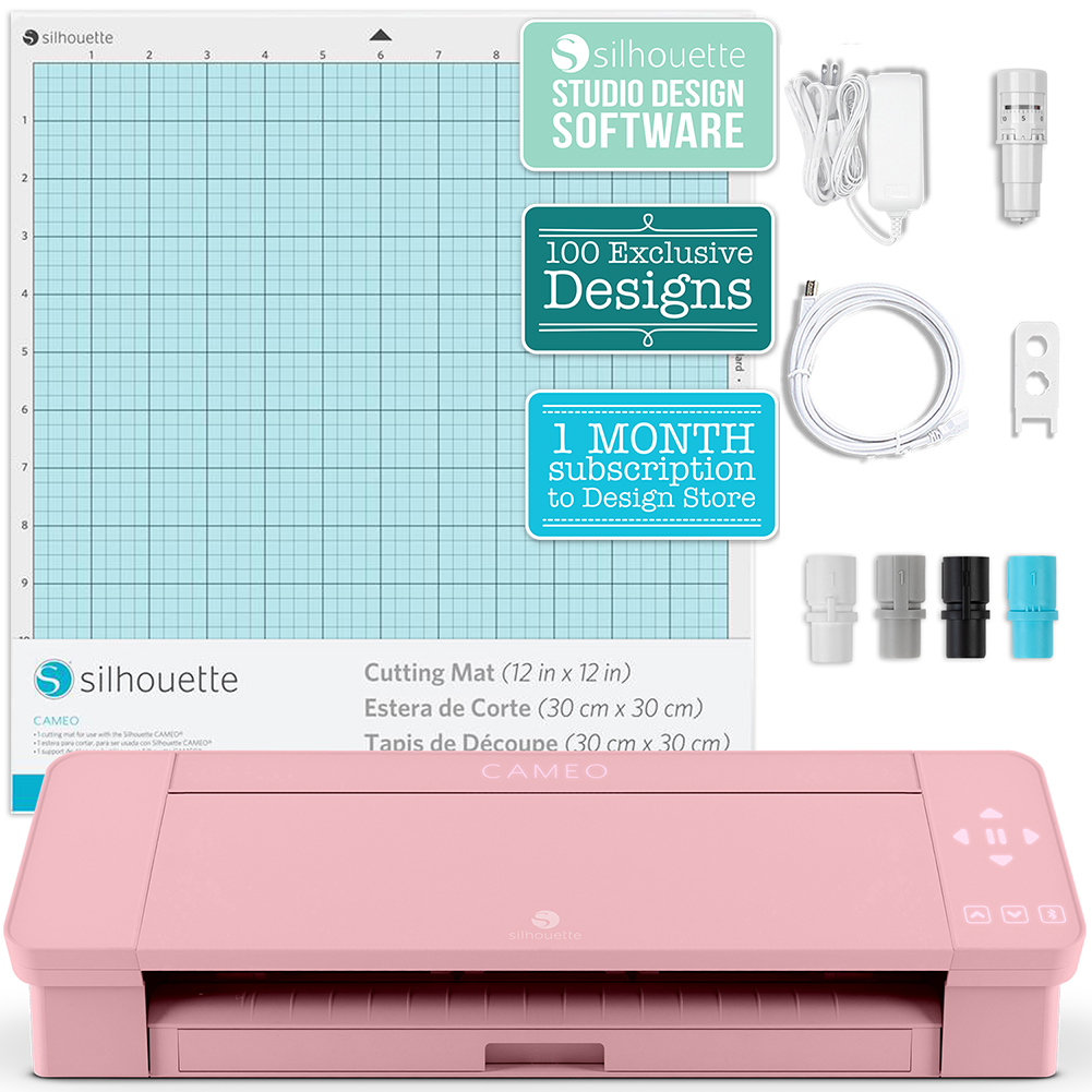 Silhouette Blush Pink Cameo 4 W Updated Autoblade 3x Speed