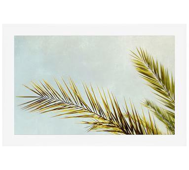 """Frond II Framed Print By Meg Venter, 28x42"""", Wood Gallery Frame, White, Mat"""