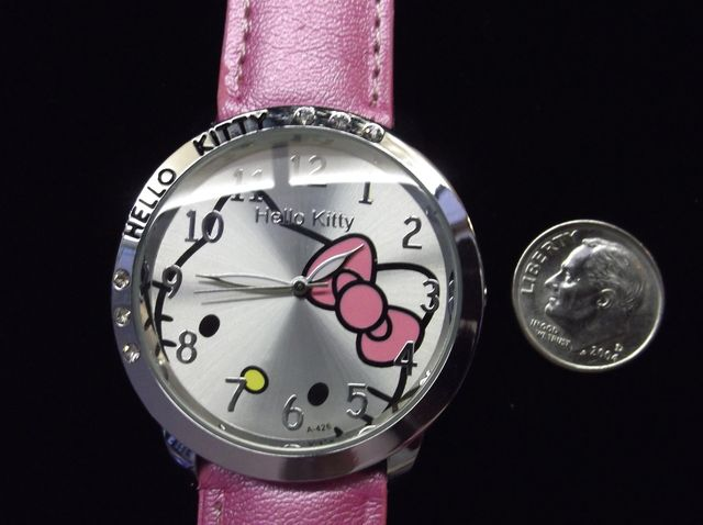 'Pearl Pink Hello Kitty Adult Watch' is going up for auction at 11am Sun, Sep 9 with a starting bid of $5.