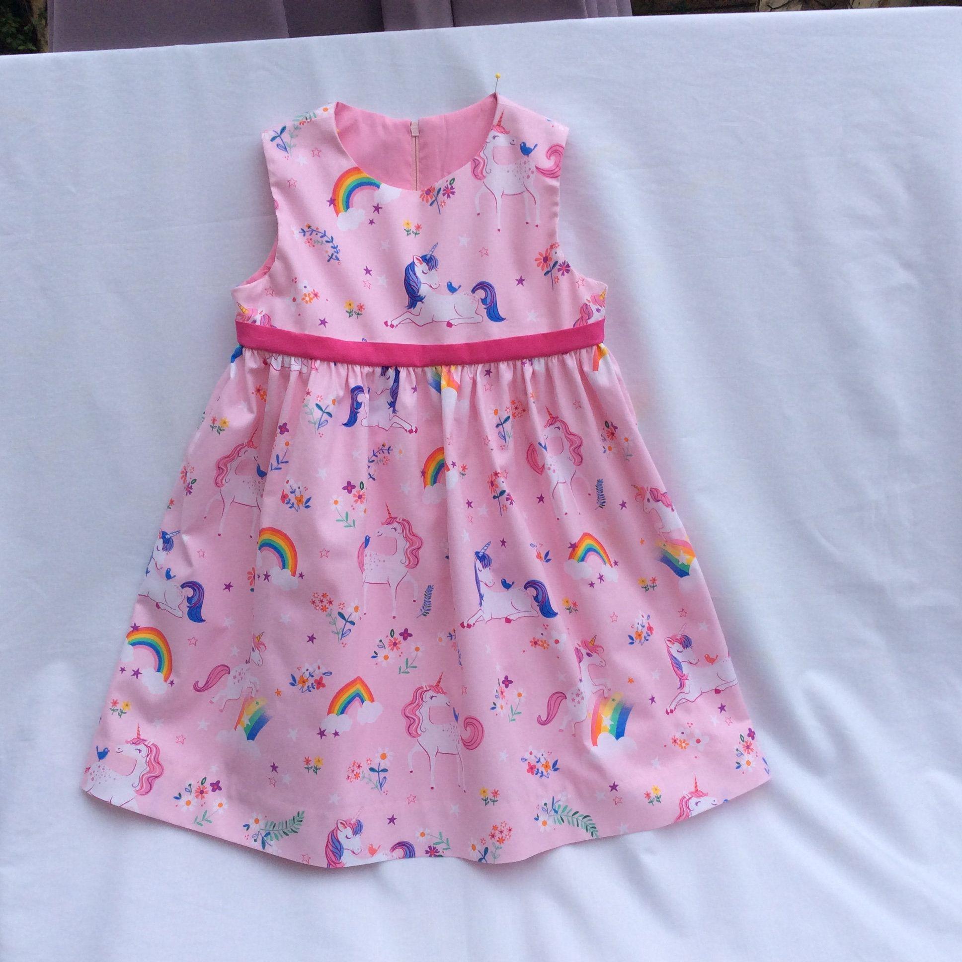 Girls Unicorns Rainbows Flowers Party Birthday Dress Pink Etsy Purple Girls Dress Girls Pink Dress Cute Little Girls Outfits [ 1936 x 1936 Pixel ]