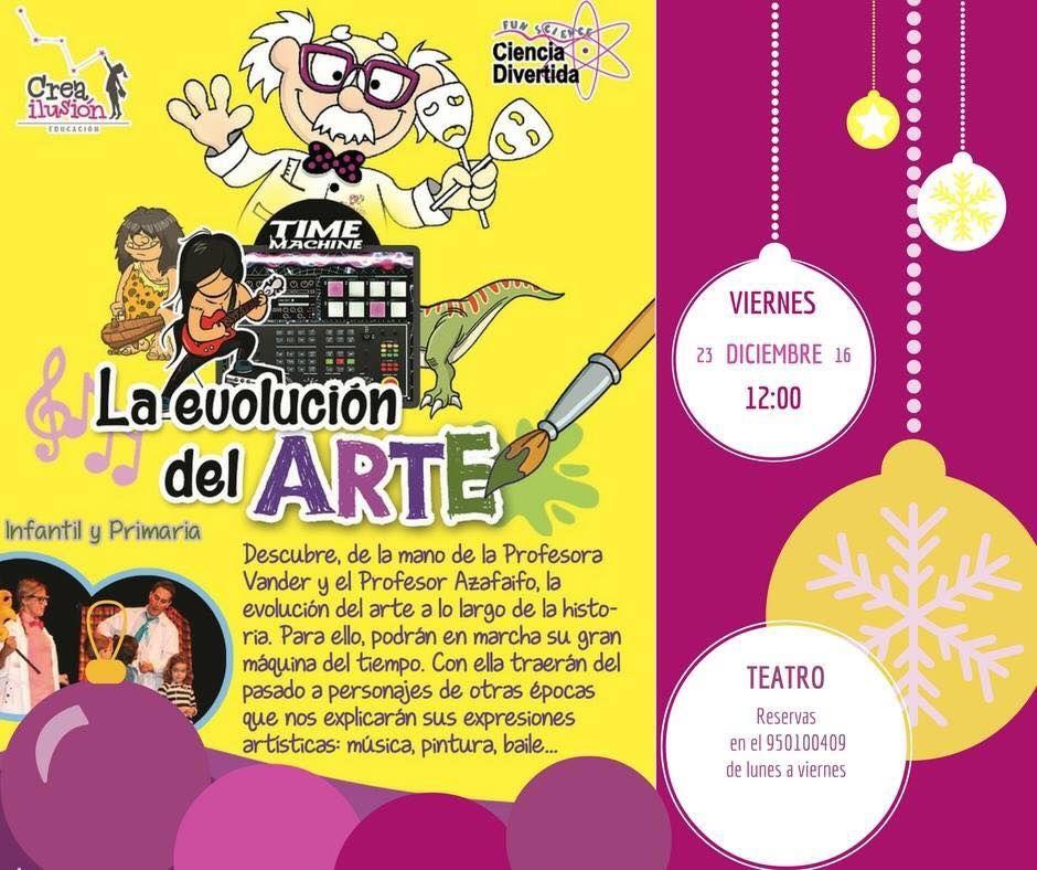 Teatro infantil: La evolución del Arte, por Ciencia Divertida (viernes, 23/12/16, 12:00 h.)