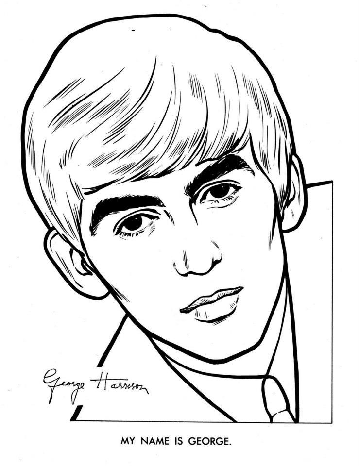 the beatles coloring page 06  beatles drawing beatles