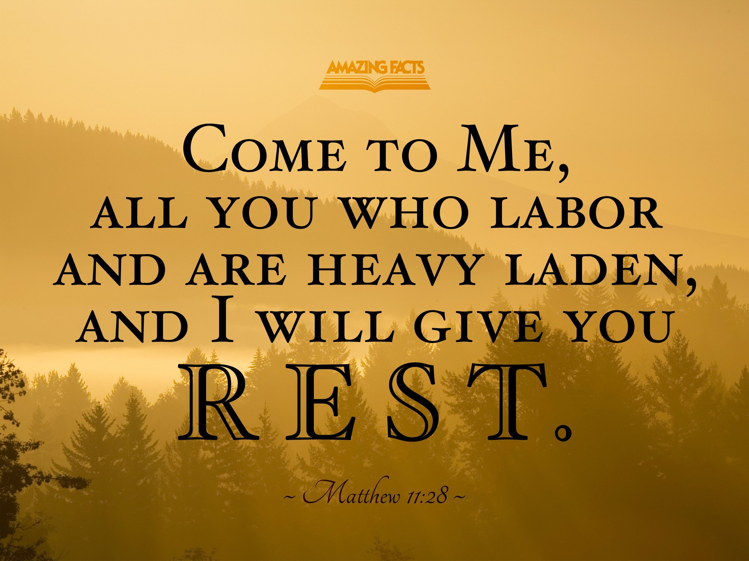 Will Heavy And You Me Are All Labor Come Who I And You Rest Laden Give 1