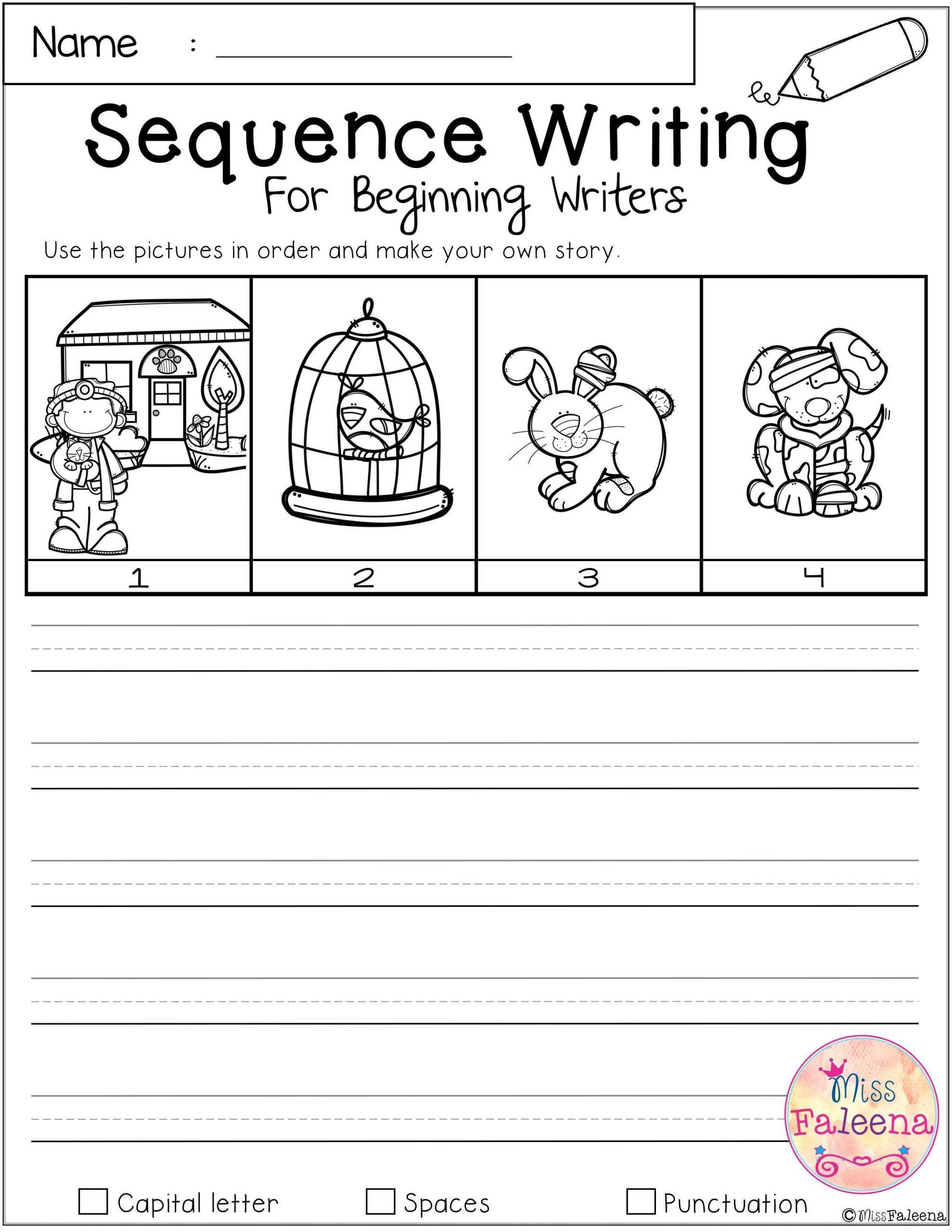 Sequence Worksheets For Kindergarten Free Sequence Writing
