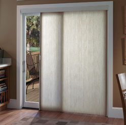 Vertical, Honeycomb Shades For Sliding Glass Doors.