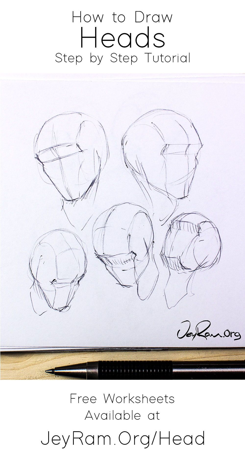 Learn How To Draw The Human Head Using This Step By Step Process