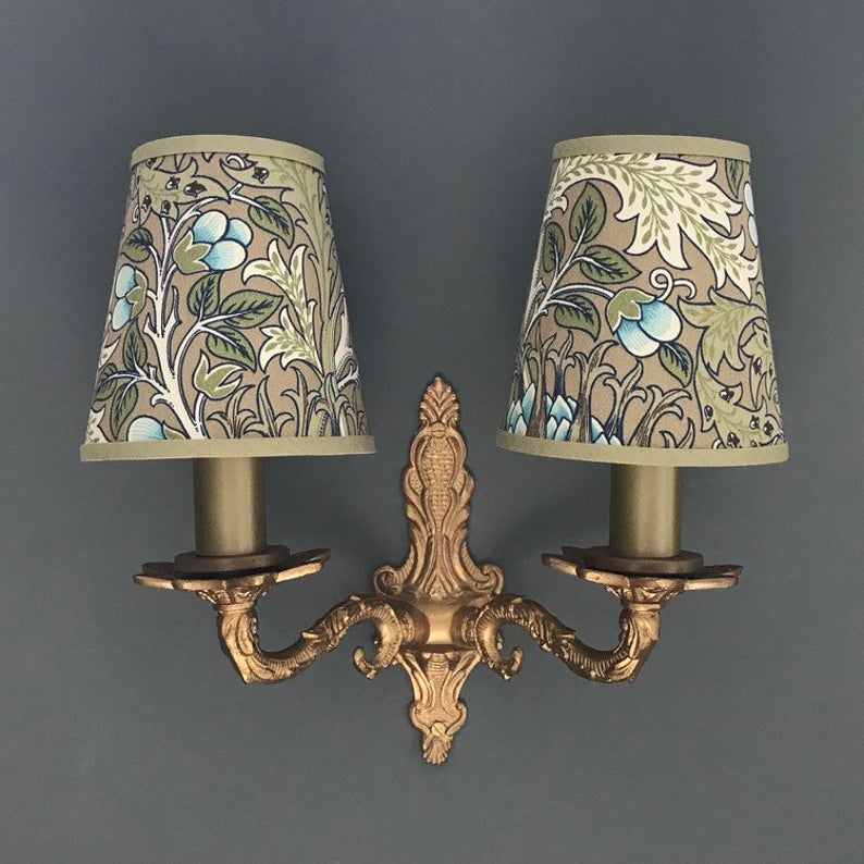 William Morris Artichoke Small Handmade Candle Clip Etsy In 2020 Wall Lights Small Candles Handmade Candles