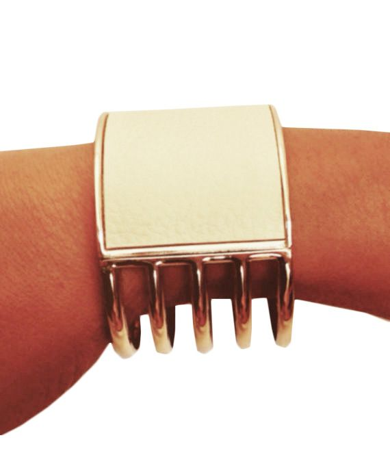 Global Z Fitness - Faux Leather Golden Cuff Non-Tarnish Bracelet for FitBit Flex, $39.99 (http://www.globalzfitness.com/faux-leather-golden-cuff-non-tarnish-bracelet-for-fitbit-flex/)