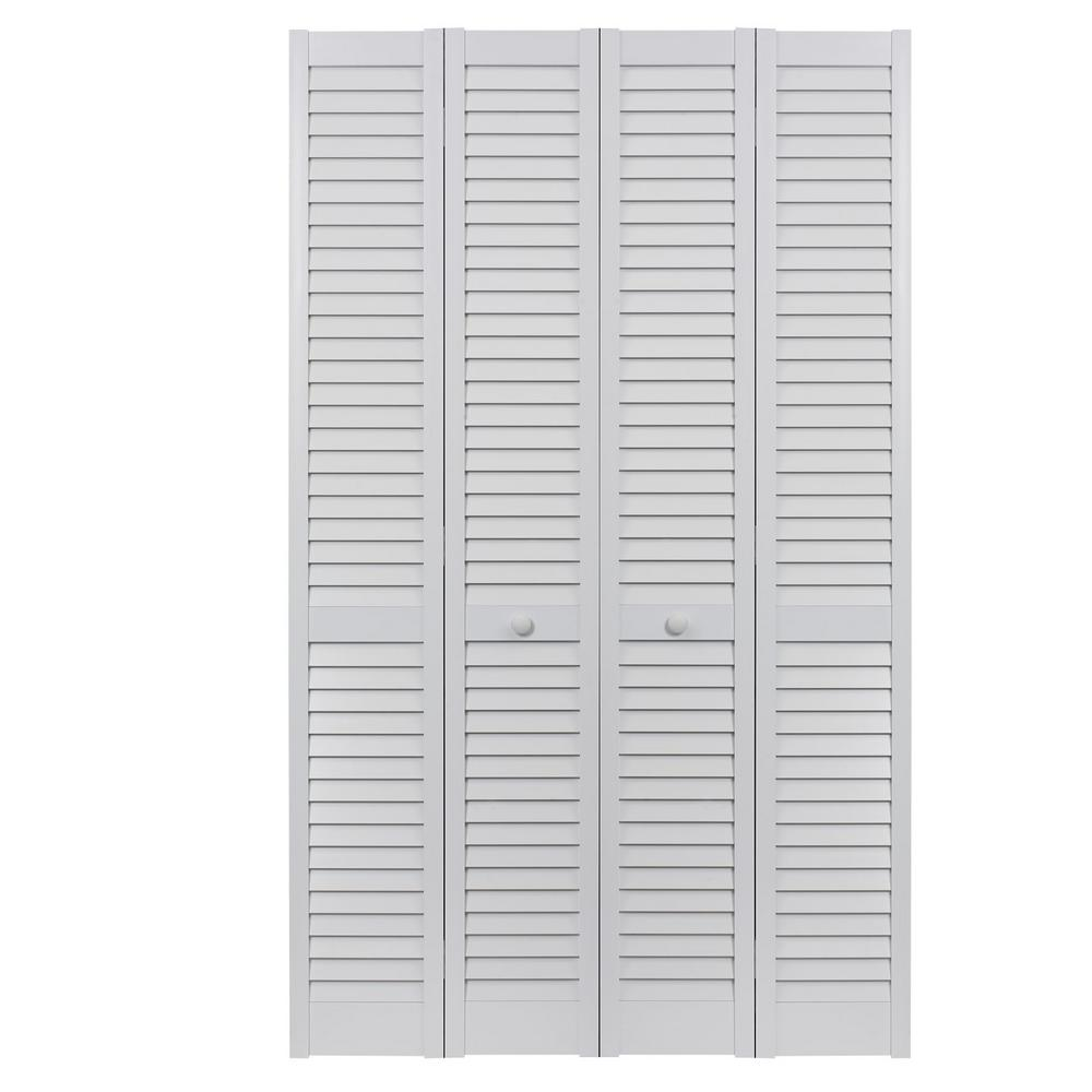 Pinecroft 48 In X 80 In Seabrooke Louver Louver White Hollow