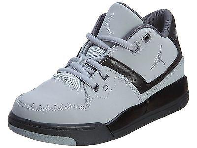 5ba646382472 Nike Jordan Flight 23 Ps Little Kids 317822-012 Grey Black Shoes ...