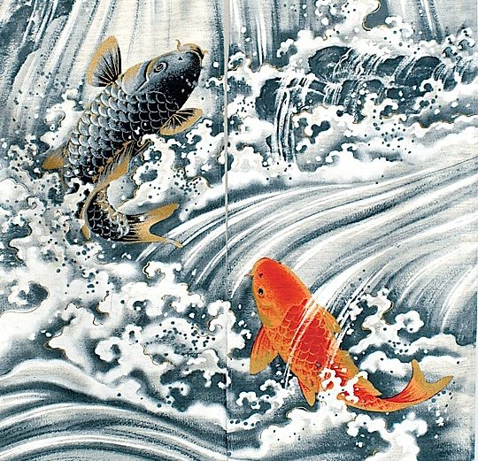 Carpe koi inspiration japon pinterest recherche for Carpe koi bleu