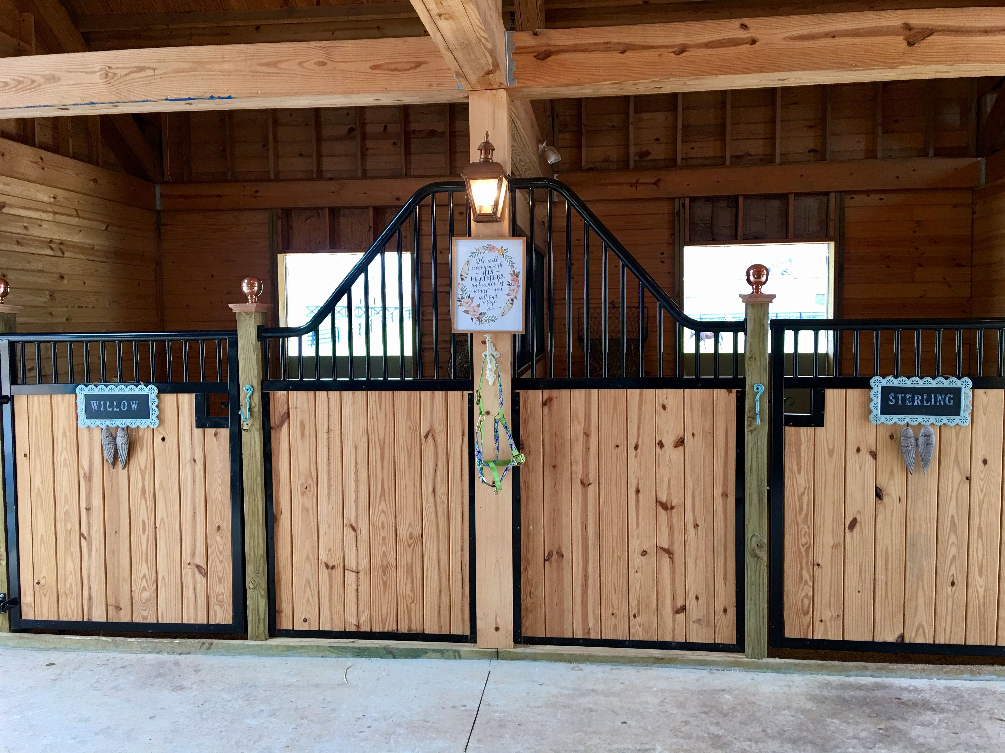 this barn! How pretty are these horse stalls? Our horses ... on
