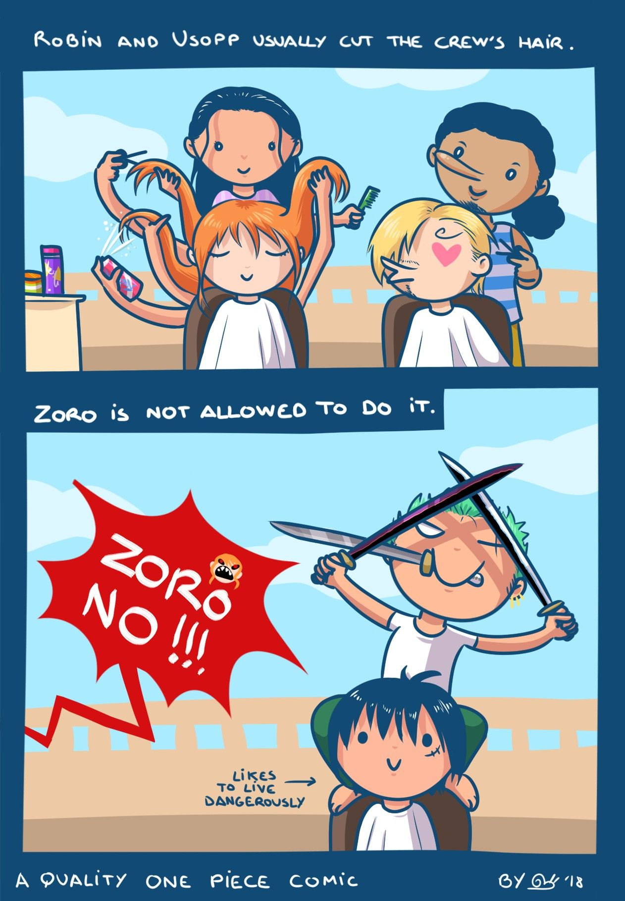 Zoro no, someone might die  One piece funny, One piece comic, Anime funny