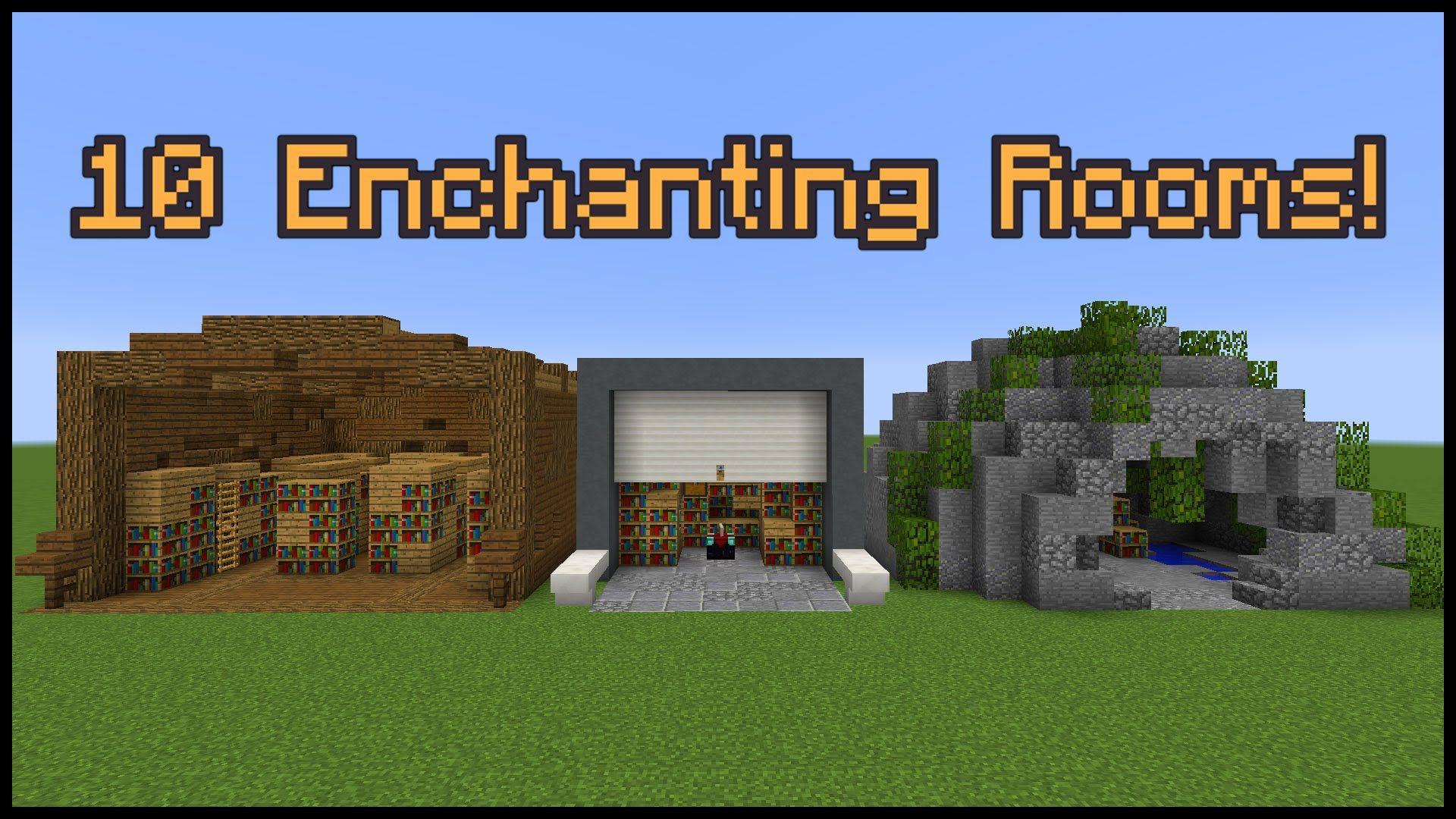 28 Enchanting Room Designs!  Minecraft farm, Minecraft medieval