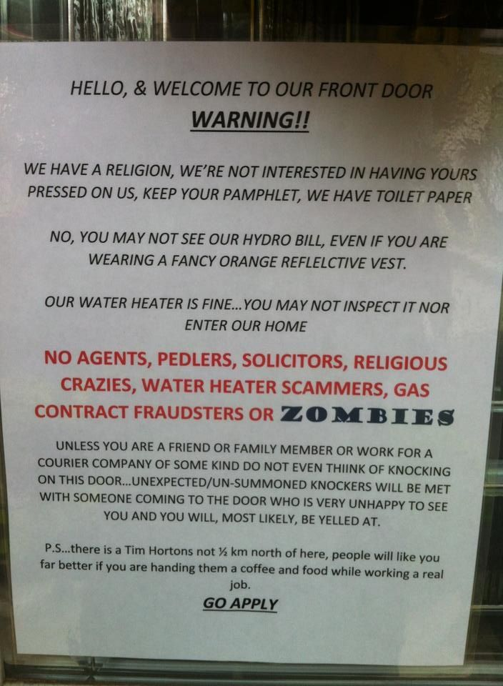 Funny sarcastic no solicitors sign haha pinterest - Funny soliciting signs ...