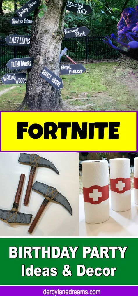 Fortnite Birthday Party Ideas and DIY Decorations that are cheap and easy to make! Make this their best party ever! They will totally LOVE you for this one! #Fortnite #partyplanning #DIY #DIYpartyideas #boybirthdayparty #DIYDecor #ideas #decorations #Nerfwars, #outdoors #outdoorparty #poolparty #cheap #budget #birthday #blog #blogger #kids #forkids #forboys #party #partydecorations