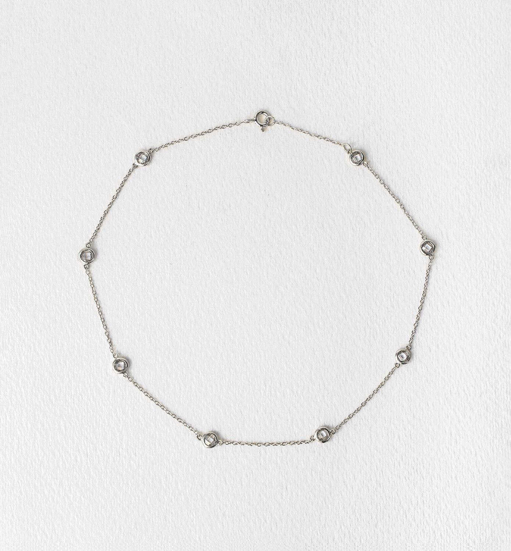GiGi Silver Petite Crystal Choker