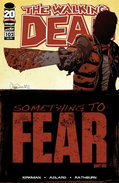This page shows all the covers of the issues, volumes and special/alternative images. Issues of The Walking Dead typically come out monthly and contain 1 part of a story arc. Story arcs typically last 6 issues.