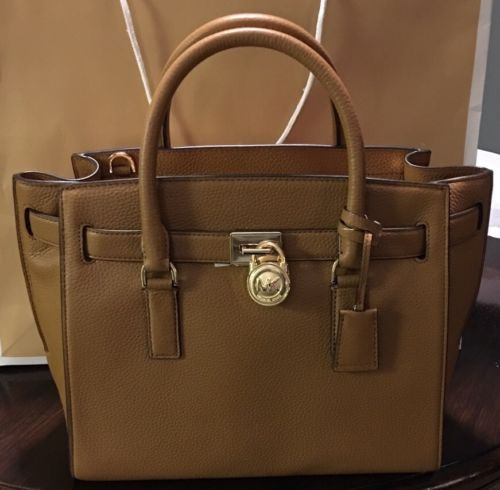 774977e331fa  MK  MickaelKors windowpub.com Michael Kors Handbag Hamilton Traveler Large  Leather Satchel