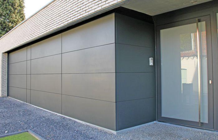Puma line stx   twee garagepoorten met vaste panelen   ral 7021 ...