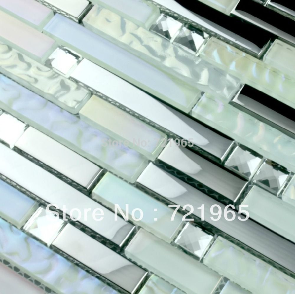 Aliexpress.com : Buy Interlocking crystal glass mosaic wall tile ...
