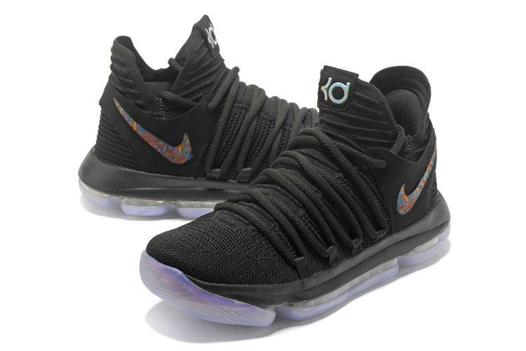 49519d8a40b7 New Arrival Authentic KD 10 X Anniversary Black Mens Basketball Shoes 2018  Wholesale  mensbasketball