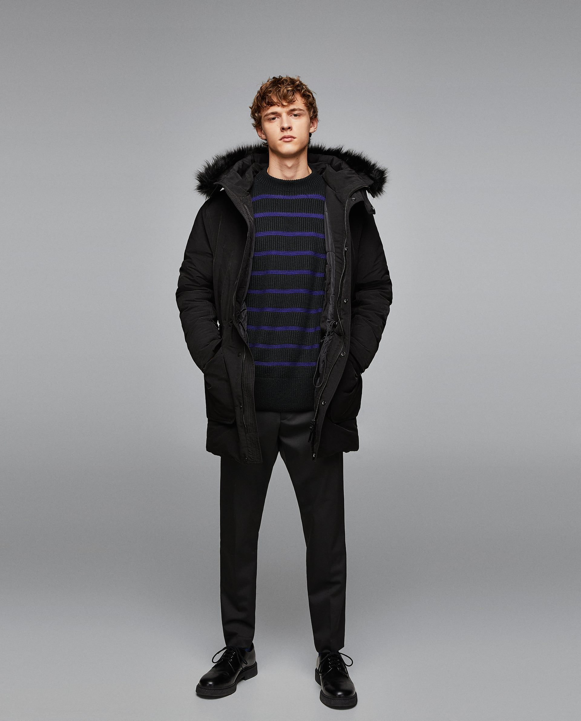 Image 1 Of Quilted Coat With Faux Fur Hood From Zara Quilted Coat Faux Fur Hood Winter Jackets [ 2379 x 1920 Pixel ]