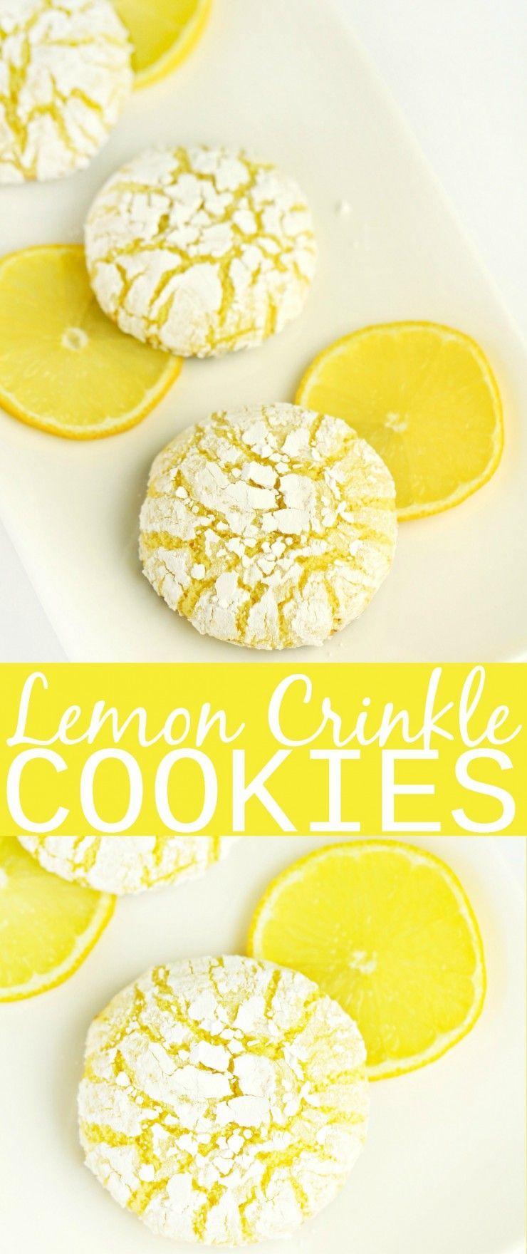 These melt-in-your-mouth Lemon Crinkle Cookies are absolutely dreamy. This cookie recipe is one of my favourites, I could have these for dessert everyday and be happy! #quickcookies
