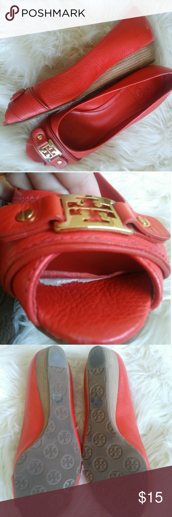e51a6d78df55 Tory Burch Wedge LOOK ALIKE Leticia in Poppy Take note these are a look  alike.  ) Tory Burch Shoes Wedges