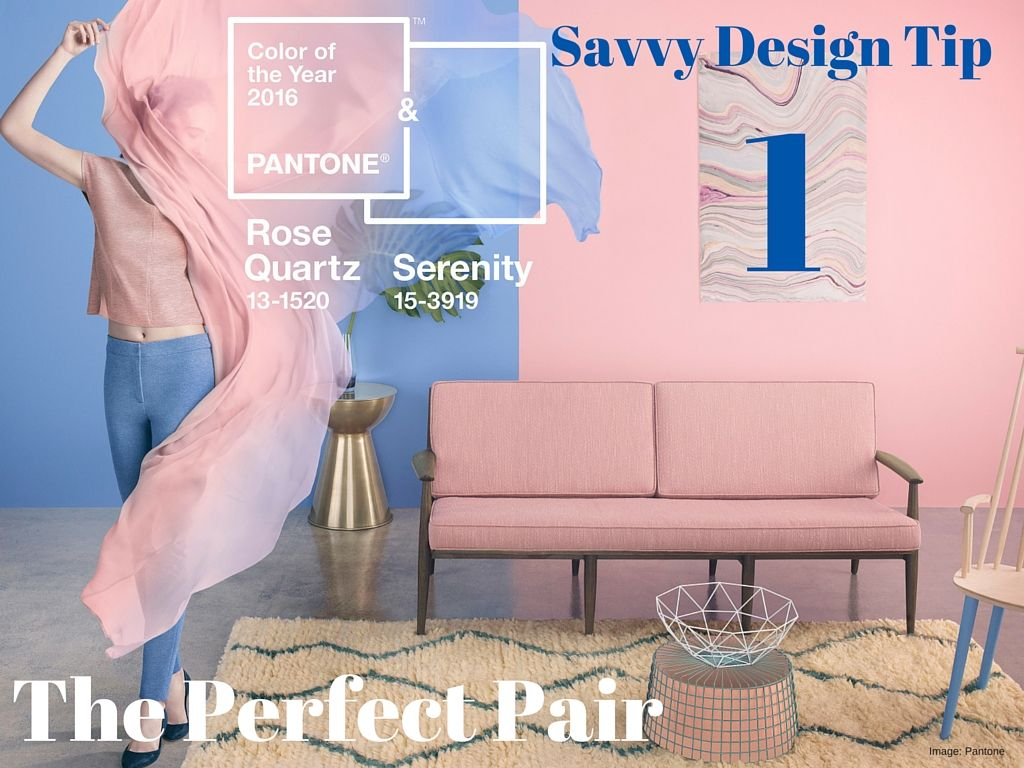Meet Pantone's Power Couple for 2016 and learn how to make the Color of the Year duo work in your home. http://bit.ly/1KN2YgC