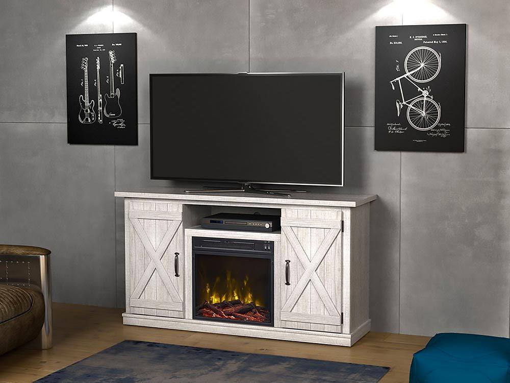 Killian Electric Fireplace Media Console In Sargent Oak 18mm6127