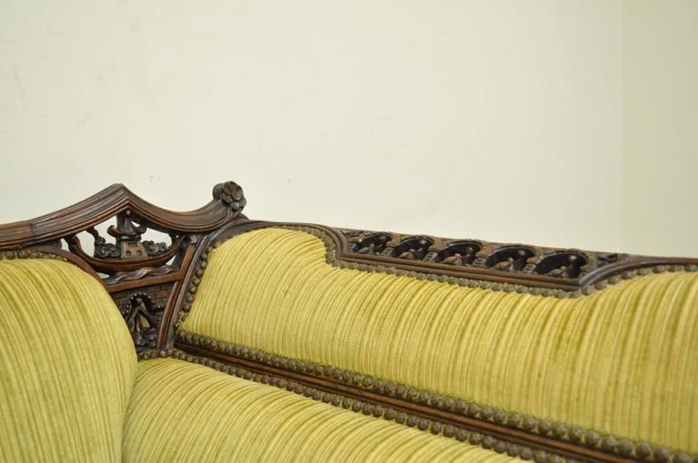 Groovy 1Stdibs Sofa 1930S Transitional Swan Serpent Carved Machost Co Dining Chair Design Ideas Machostcouk