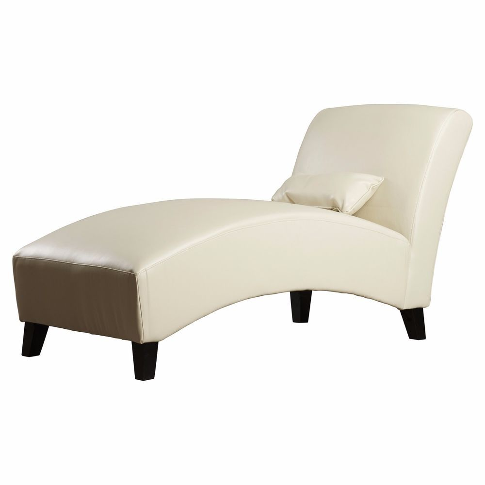 Chaise lounge chair indoor white modern leather living