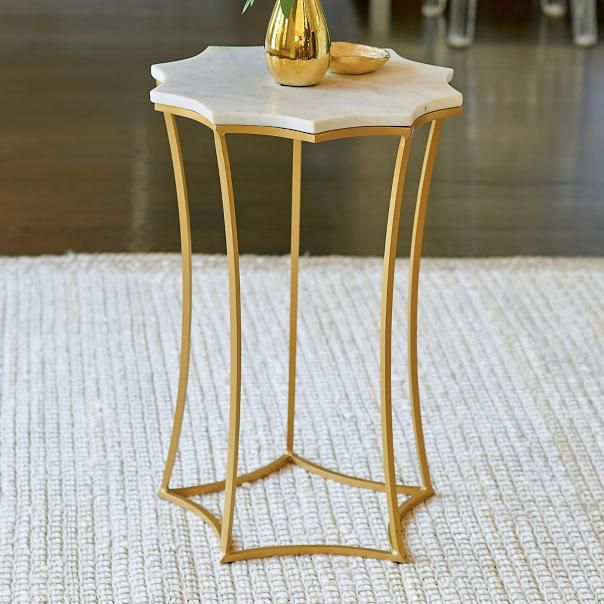 Ursa Marble Top Accent Table Bedroom Table Pinterest Living